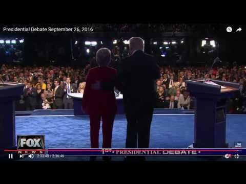 CLINTON TELEPROMPTER INSIDE DEBATE PODIUM – Exposed By Network Video | EndingFed News Network
