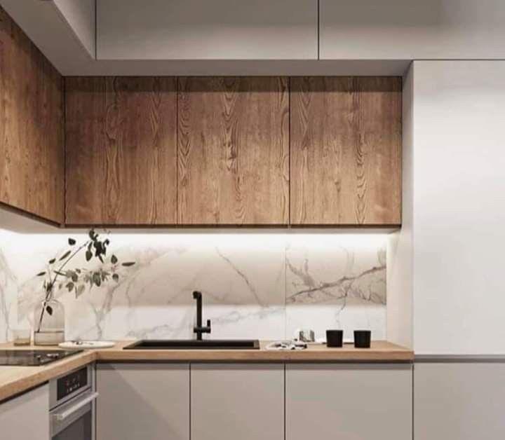 Panel Scienny Minimalistyczna Zabudowa Szafki Otwierane Na Dotyk Kolory Polacz Kitchen Interior Design Modern Modern Kitchen Design Kitchen Room Design