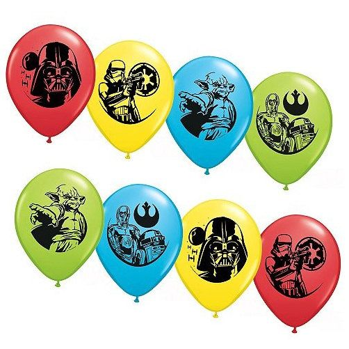 "Star Wars Set of 12 11"" Assorted Colors Latex Balloons party supply by CelebratetheDayparty on Etsy"