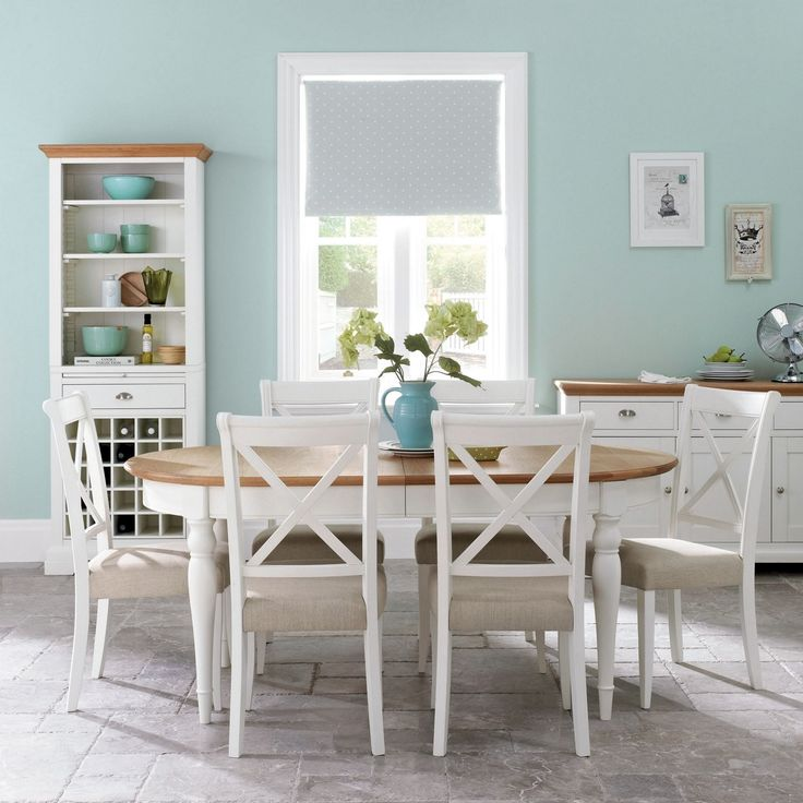 Love this dining set - Debenhams Solid oak 'Hampstead' two tone large extension table with four chairs- at Debenhams.com