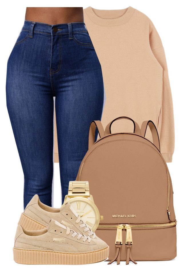 """You look as good as the Day I met you."" by bria-myell ❤ liked on Polyvore featuring MICHAEL Michael Kors, Michael Kors and Puma"