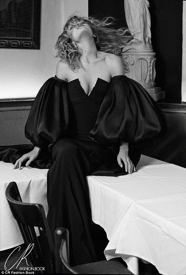 Glamorous: Gigi Hadid, 20, appears in the new issue of CR Fashion Book, out February 25...
