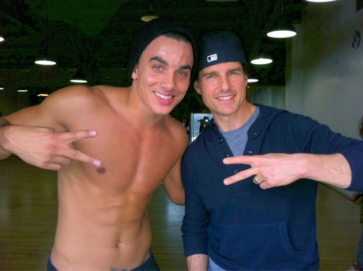 Timor Steffens and Tom Cruise.Tom & Katy Cruise visit Chris Brown's F.A.M.E tour rehearsal.Tom cruise came by to watch them get down lockers. (2011).