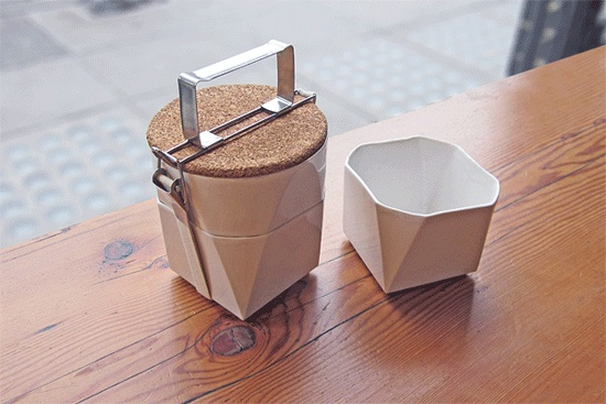 Emily Carr University design student Lorea Sinclaire exhibited her adorable ceramic tiffin lunch kit.