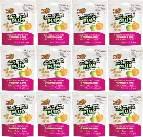 Pet n Shape Freeze Dried Chicken Liver  Pumpkin  Apple for Cats 9oz 12 x 75oz -- Check this awesome product by going to the link at the image.