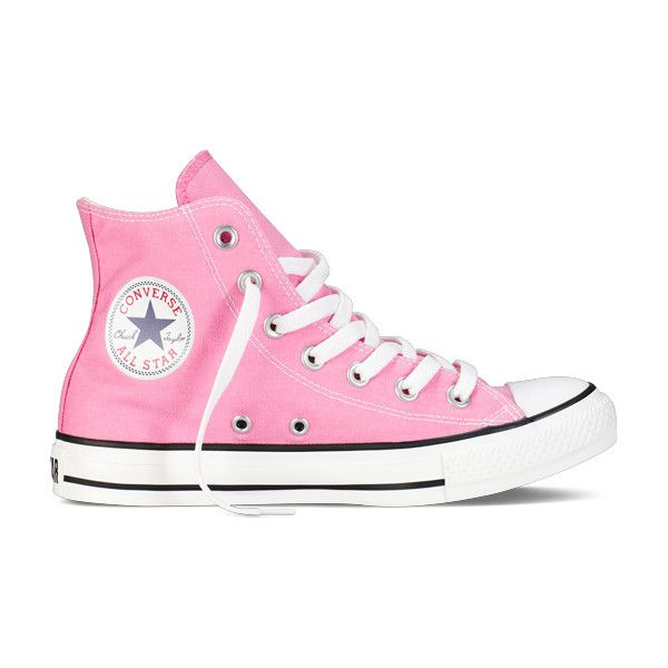 Pink High Top Chuck Taylor Shoes : Converse Shoes | Converse.com (£35) ❤ liked on Polyvore
