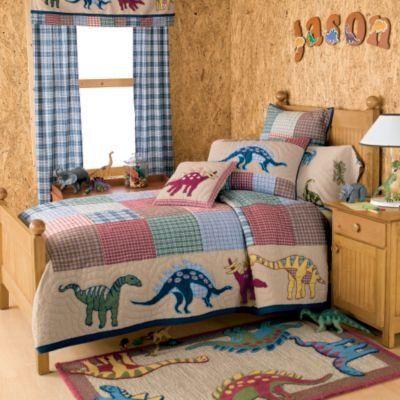 dinorsaur bedding jurassic quilt bedding kids decorating ideas