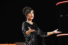 Petra Mede, the presenter of the Eurovision Song Contest 2013