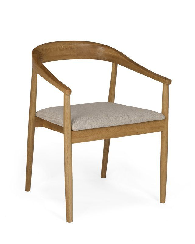 Evert Carver Solid Wood Dining Chair in 2019 | Living Room | Solid ...