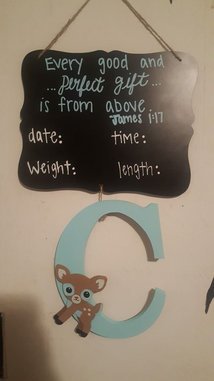 Hospital Door Hanger, Baby Boy, Nursery, Bible Verse, Door Hanger, Perfect for Hospital Door and Birth Announcement❤