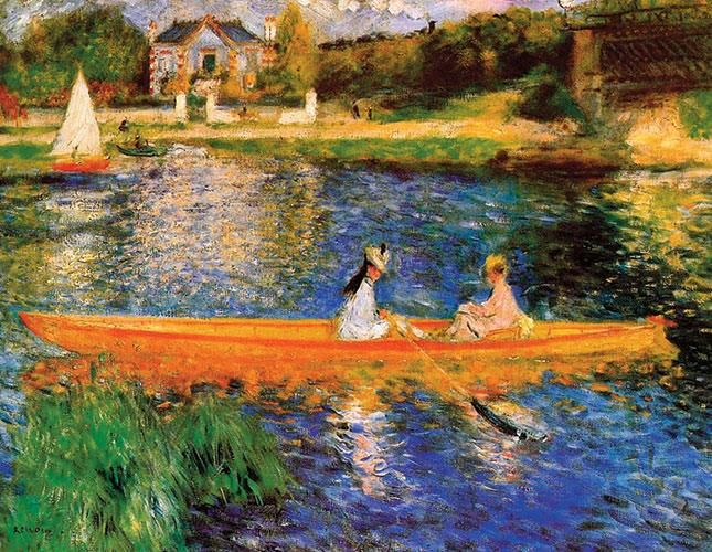 Pierre-Auguste Renoir In barca sulla Senna 1875 71 cm x 92 cm Colore ad olio National Gallery