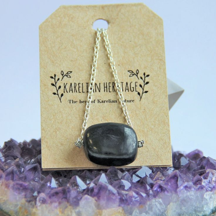 Buy exclusive cheap shungite necklace with big shungite tumbled stone $11.99