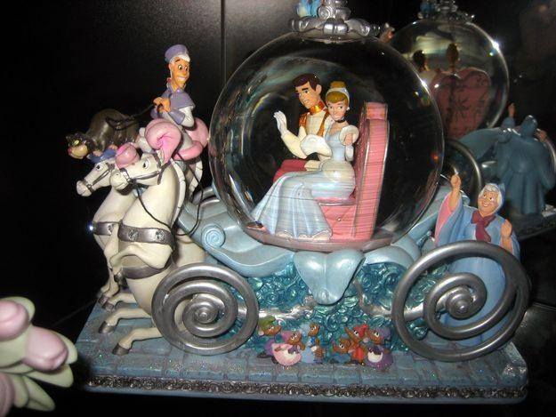 Cinderella and Prince Charming in the carriage