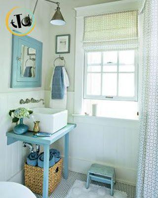 mood perfetto per un bagno nella casa al mare bathroom time pinterest bagno. Black Bedroom Furniture Sets. Home Design Ideas