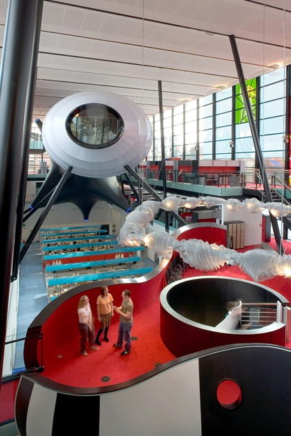 Blizzard Building at Queen Mary University in London by Alsop Architects .