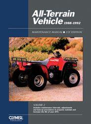 Clymer ATV21 Service Manual for 1988-92 ATVs