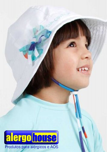 ca5617cc69a79 CHAPÉU INFANTIL PRIMAVERA NEW FLOWER COM PROTEÇÃO UV - SUN COVER  Confeccionado de microfibra