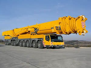 The Liebherr LTM 11200-9.1 mobile crane sports a 100-meter telescopic boom -- the longest in the world. That's longer than a football field. Tell me that's not awesome...