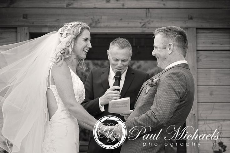 David and Ruth say their wedding vows at Silverstream retreat. PaulMichaels wedding photography Wellington http://www.paulmichaels.co.nz/