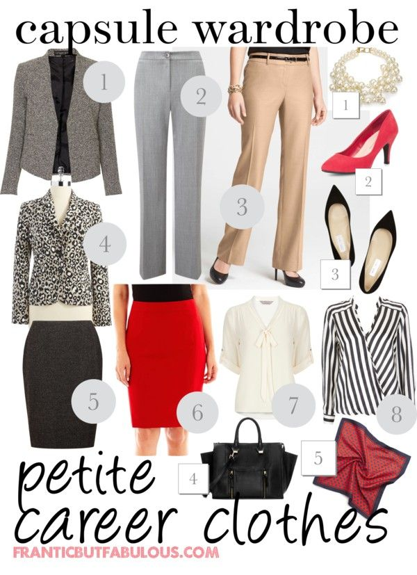 Capsule wardrobe: Petite career clothes - Working mom style advice: Frantic But Fabulous via @Already Pretty