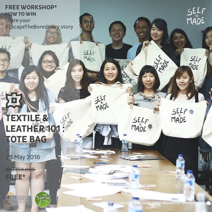 """CONGRATULATIONS for all winners of #EscapeTheBoredinary giveaway w/ @sjoraindonesia - Each one of you win a FREE slot to attend Textile & Leather 101 : Tote Bag making workshop at Indoestri this Saturday!! -  Kindly email to info@indoestri.com with Subject """"Sjora Giveaway"""" your full name and phone number ASAP so we can inform you about the class details. - Winners of #EscapeTheBoredinary: 1. @rainreinaa 2. @khomaynie 3. @duwasisibyinilalaa 4. @nswinarni 5. @nevahumairahd 6. @shellitanzilia…"""