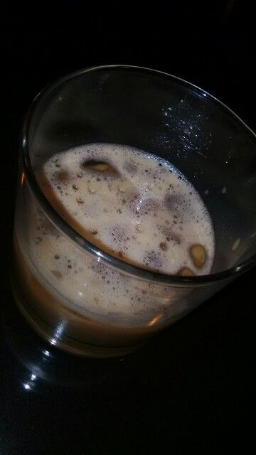 It looks like baileys :) Actualy,it's cappucino ice placed on Old Fashion glass...