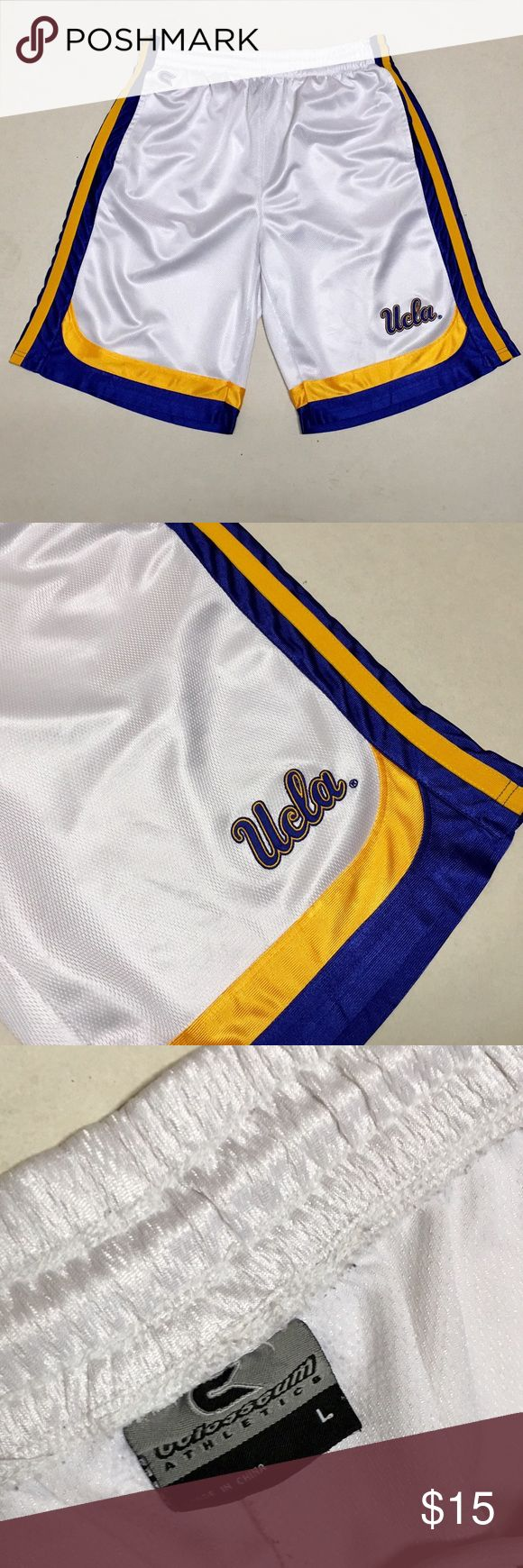 UCLA Bruins - Men's Basketball Shorts 🏀 UCLA Bruins  Basketball shorts   Men's Size Large   Draw string  Side pockets   Get them for March Madness!! 🏀 Colosseum Shorts Athletic