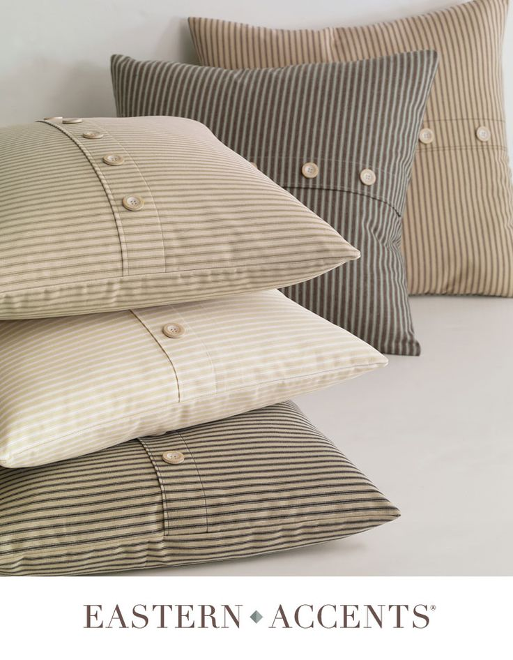 Turn men's shirts into pillow slip covers.