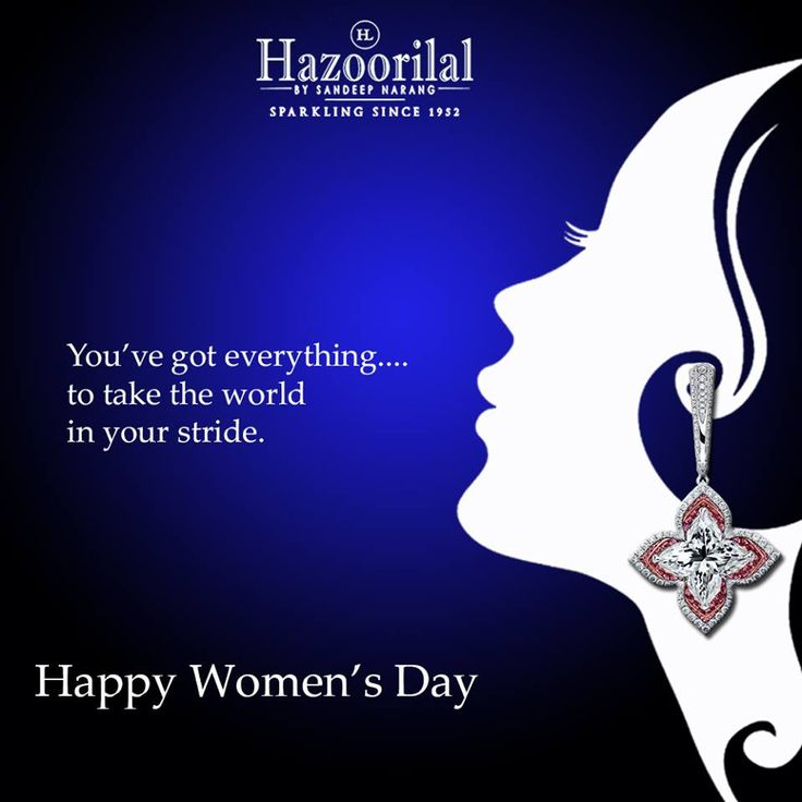 #HazoorilalBySandeepNarang wishes all our customers and followers a very #HappyWomen'sDay #Diamonds #Solitaires #LilyCuts #FineJewelry #HazoorilalCelebrates #Hazoorilal