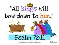 Free Psalm 72:11  Bible Verse Printables from Christan Preschool Printables