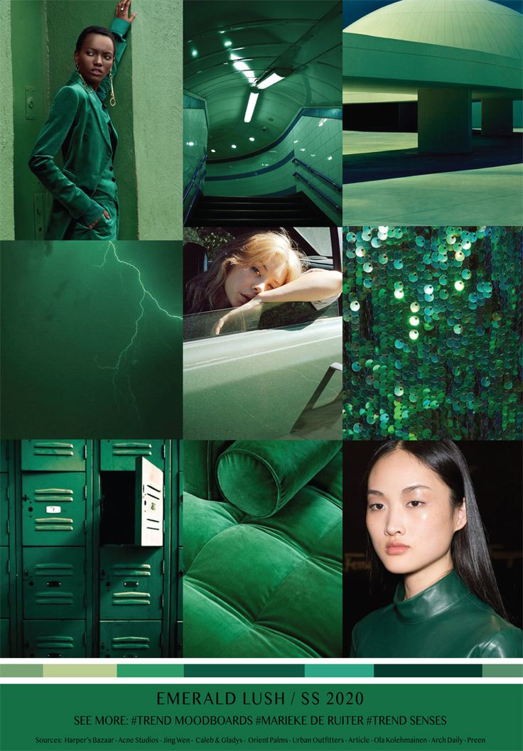 3 Home Decor Trends For Spring Brittany Stager: MOODBOARD - EMERALD LUSH - SPRING SUMMER 2020