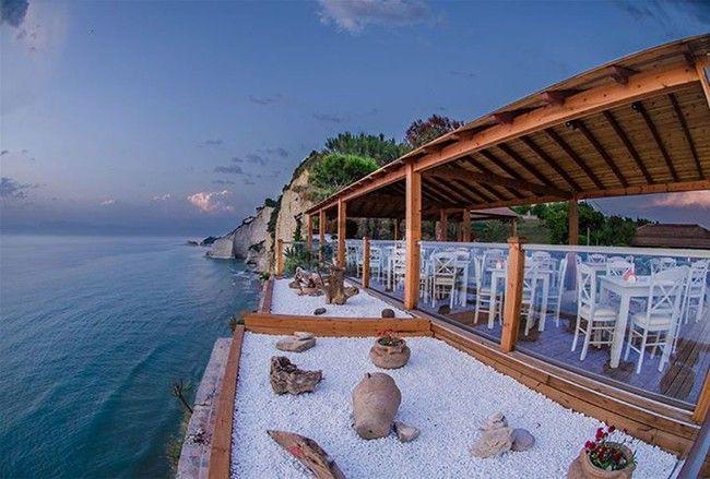 """7th heaven"" cafe, Peroulades, Sidari, Corfu, Greece"