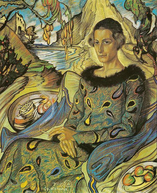Stanislaw Ignacy Witkiewicz - Portrait of Maria Nawrocka, 1925