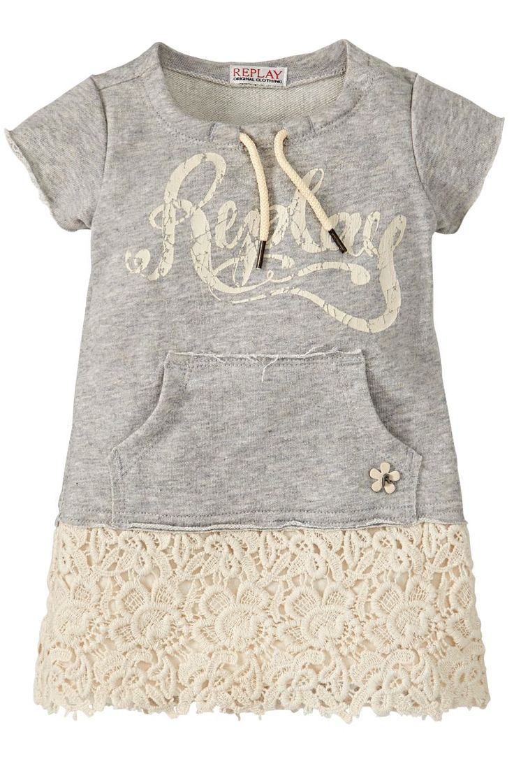 Replay baby meisjes jurk grijs kant