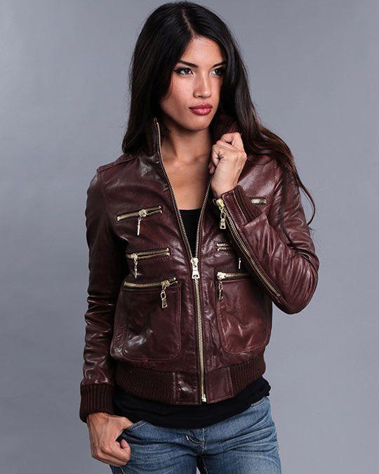 женские кожаные куртки фото