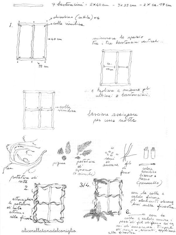 la Tana del Coniglio: tutorial ghirlanda invernale / winter wreath tutorial