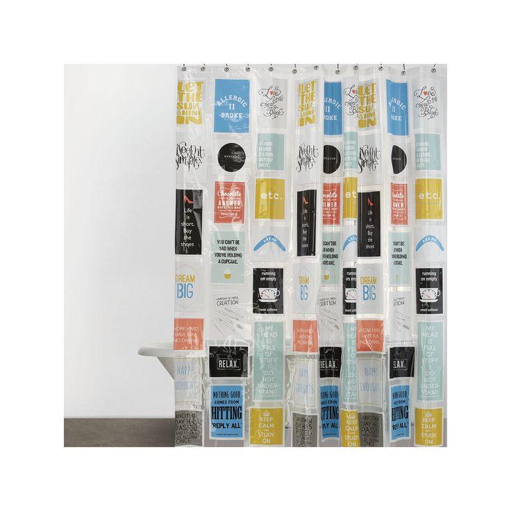 Just Sayin' Chick Lit Vinyl Shower Curtain, Multicolor
