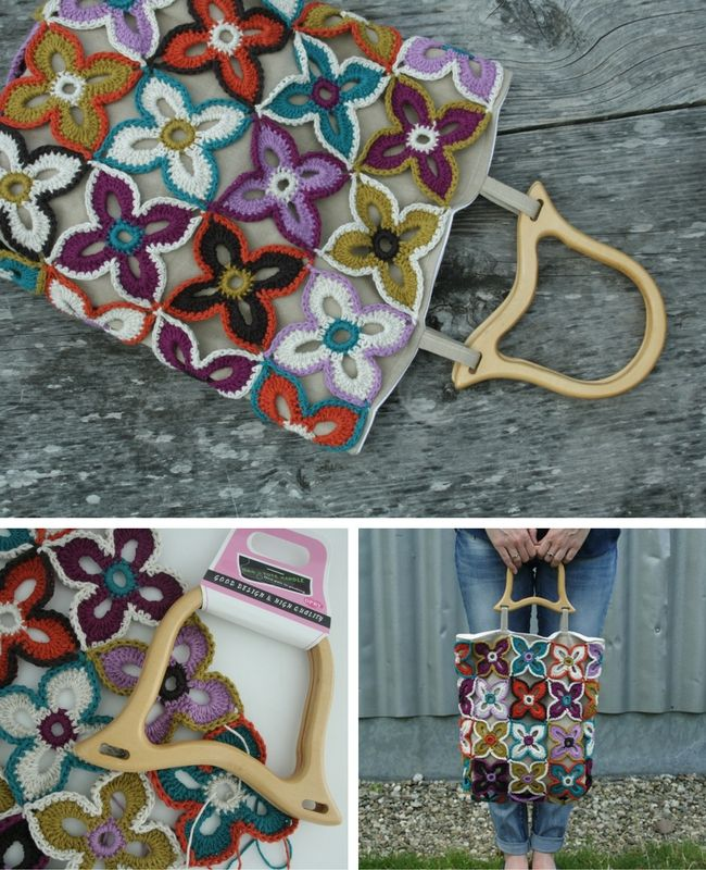 Peacock Butterfly Bag. Crochet pattern (complete photo tutorial, charts etc) and sewing instructions | Happy in Red