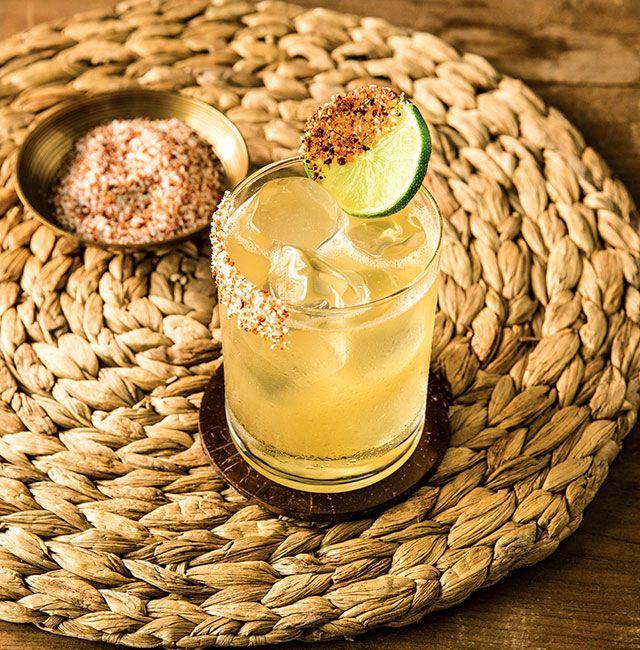 Enjoy BBQ Smoked Margarita, a cocktail made with Patrón Reposado.