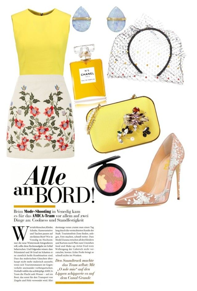 """""""#77"""" by alex-candy on Polyvore featuring Alice + Olivia, Topshop, Stephen Jones, MAC Cosmetics, Melissa Joy Manning, Chanel and Dsquared2"""