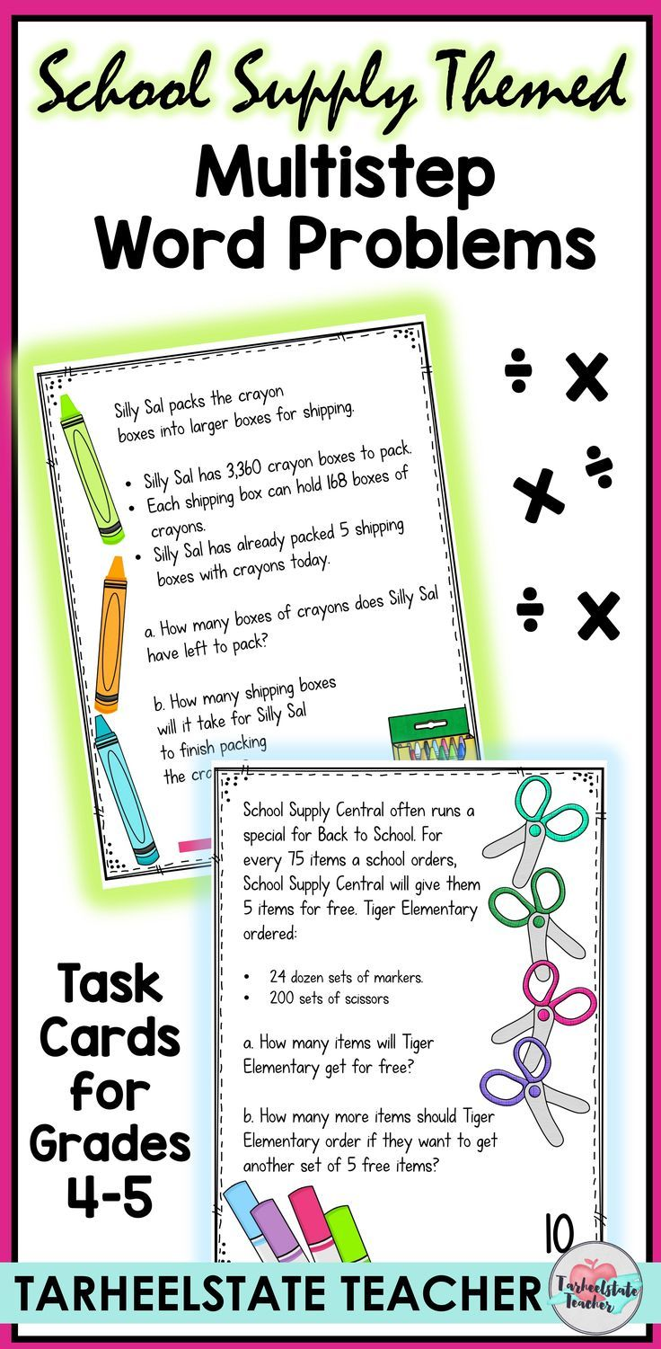 Multistep Word Problems For Multiplication And Division Teach Your Students How Multi Step Word Problems Multiplication Word Problems Division Word Problems