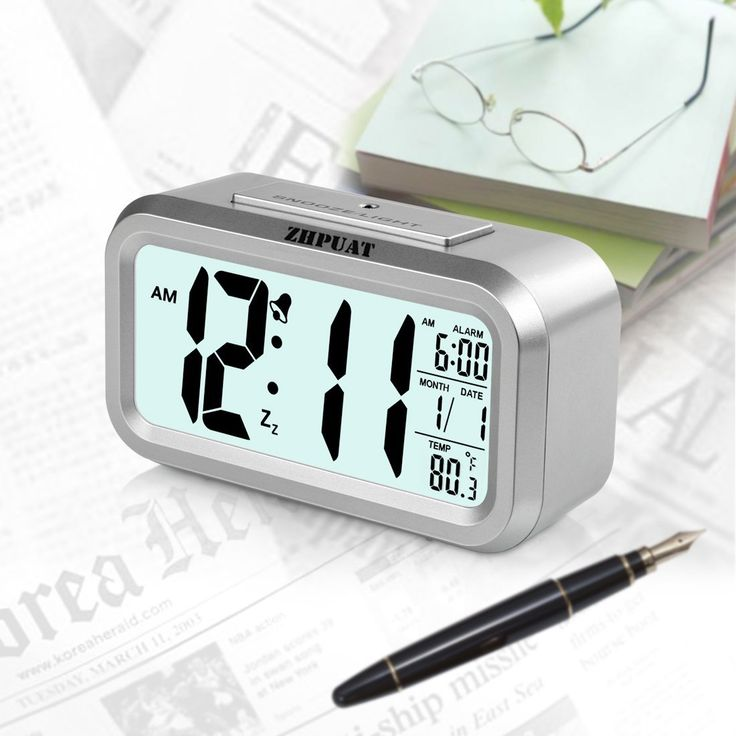 Smart Light Alarm Clock with Dimmer, Both Cord and Batteries Supply
