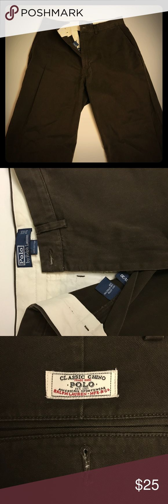 """Polo by Ralph Lauren Brown men's chinos 31"""" waist 30"""" length brown men's chinos by Polo Ralph Lauren. No sings of wear to be seen. Pants were worn only twice. Polo by Ralph Lauren Pants Chinos & Khakis"""