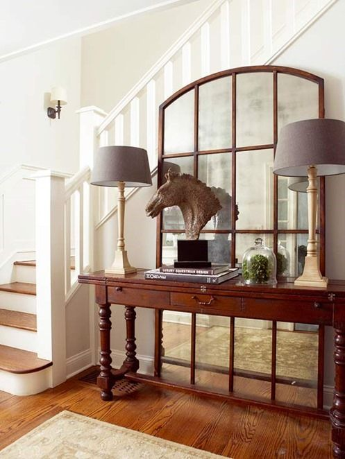 Foyer Room Means : Best ideas about window mirror on pinterest country