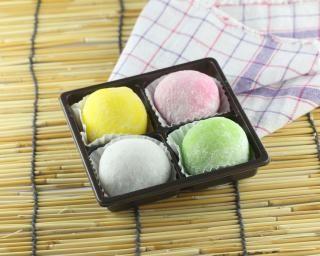 Mochis japonais tout léger : http://www.fourchette-et-bikini.fr/recettes/recettes-minceur/mochis-japonais-tout-leger.html