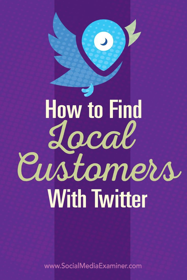 Do you use Twitter for your business? There are tactics you can use to improve the visibility of your local business and identify potential leads. In this post you'll discover three ways to connect with local customers on Twitter. Via @Social Media Examiner