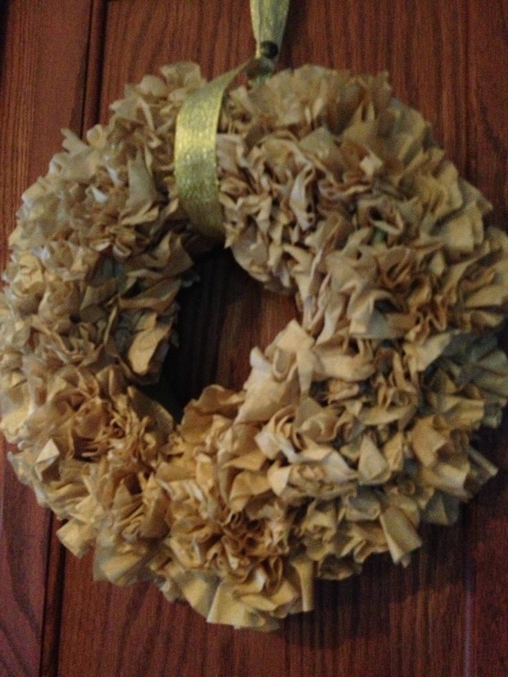 ... COFFEE FILTER WREATH on Pinterest | Coffee filter wreath, The coffee