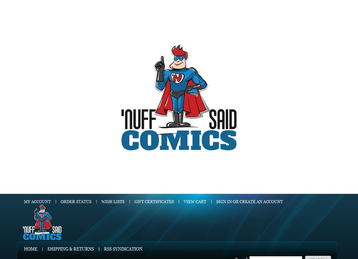 logo for online comic book store