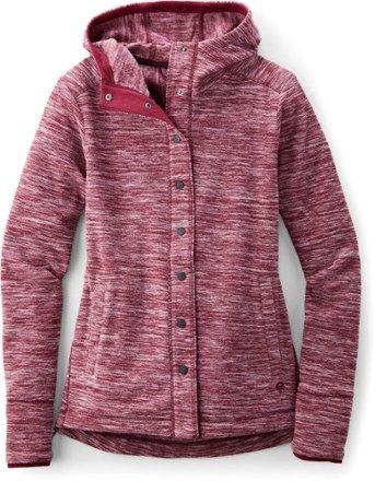 Mountain Hardwear Women's Snowpass Fleece Hoodie Heather Cote Du Rhone XS