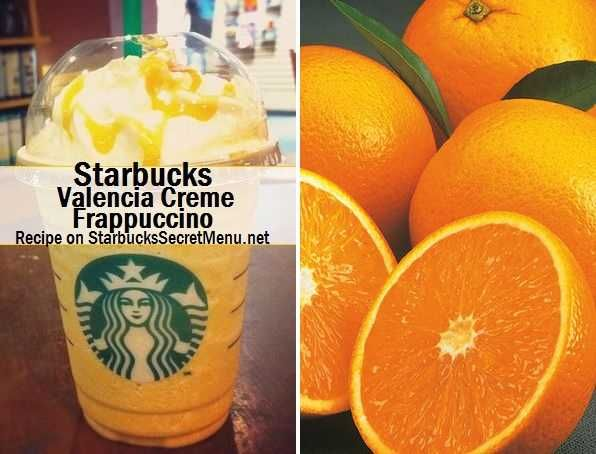Here's the recipe: •Valencia Orange Refresher •Blended with Vanilla Bean Frappuccino Base  If it helps your barista out, it is written as VOR, VBF